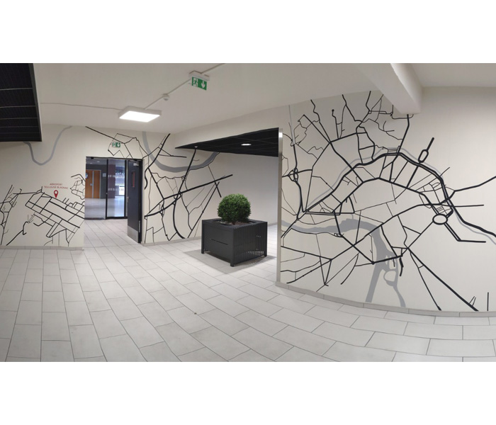 Habillage mural – Parking Premium Aéroport Toulouse Blagnac